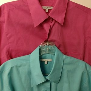 Pair of Foxcroft dress shirts size 6